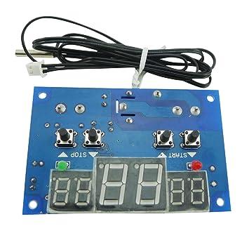 Aihasd DC12V -9-99℃ Termostato digital inteligente controlador de temperatura Con sensor NTC