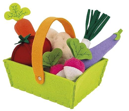 Janod Madera Juguete - Surtido de verduras en cesta verduras ...