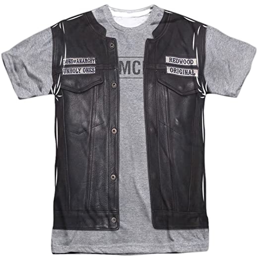 9f4ae12b Amazon.com: Sons of Anarchy Men's Unholy Costume Sublimation T-Shirt ...