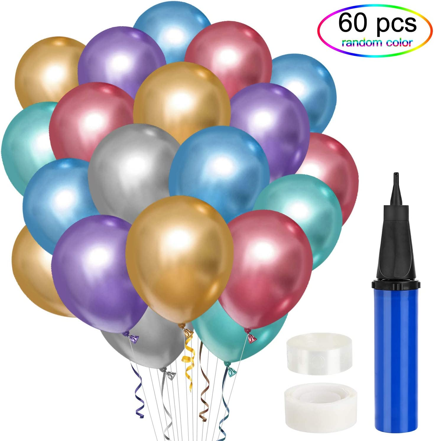 QUALITY LATEX METALLIC BALLOONS Assorted Pearlised Colour Party Birthday Wedding