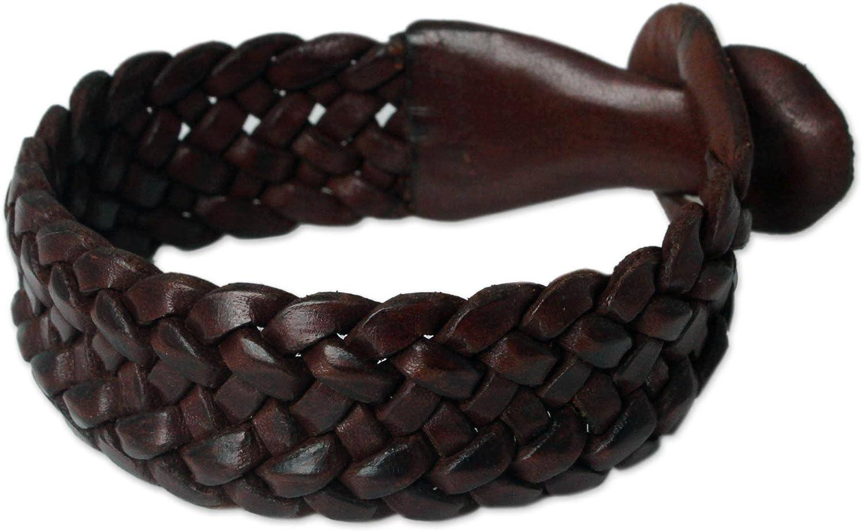 Unisex Braided Leather Wristband Bracelets  Men Women Boys Girls Green /& Brown