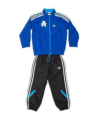 2086b29a5fe4 adidas Tracksuit Royal Blue Black White 5 - 6 Years (110 116 cm)   Amazon.co.uk  Sports   Outdoors