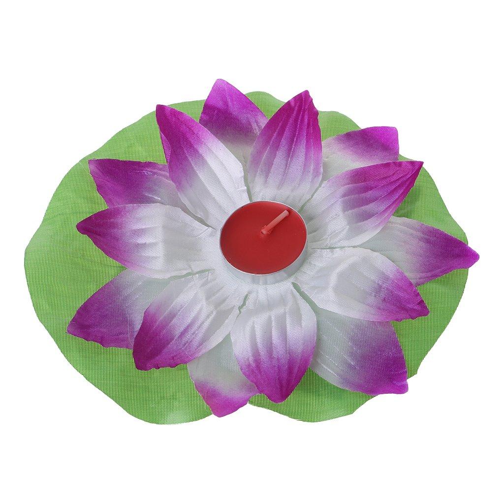 Thobu Magical Amazing Blossom Lotus Flower Light Party Festival Romantic Lamp Candle Purple