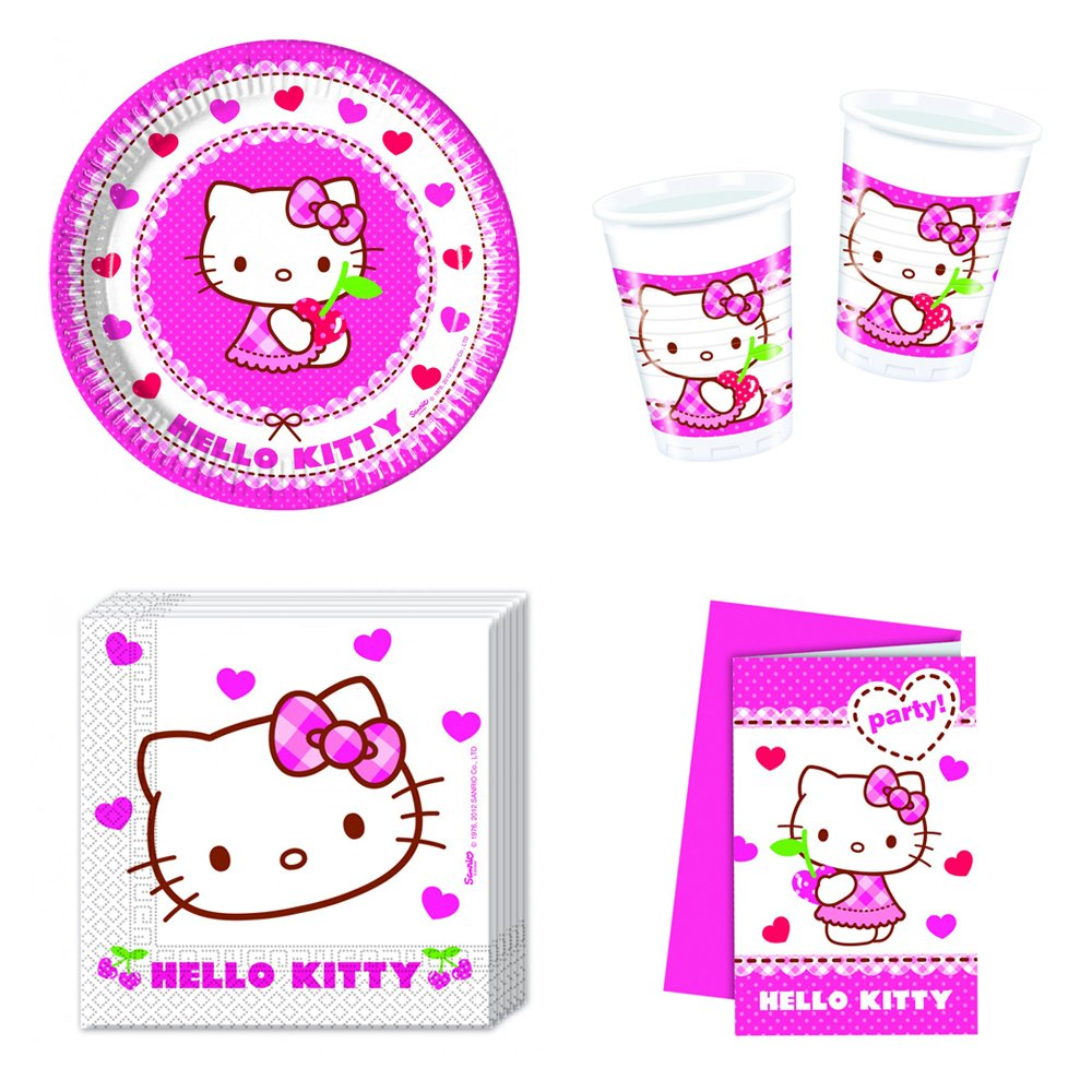 Hello Kitty Herzen Party-Set inkl. Pappteller, Becher, etc. [Importación alemana]: Amazon.es: Juguetes y juegos