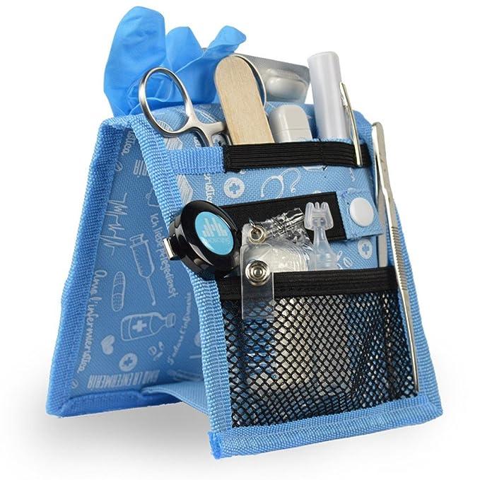 Mobiclinic Organizador Auxiliar de enfermería | Keens Bata o Pijama | Diseño Exclusivo con Estampados en Color Azul | Amo la enfermería: Amazon.es: Hogar