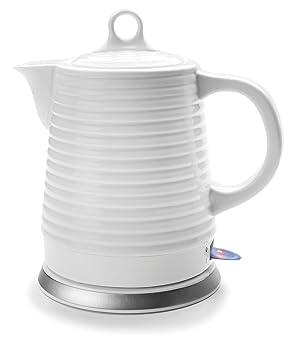 Lacor 69276 - Hervidor de agua eléctrico cerámico, 1,30 litros, 1500 W