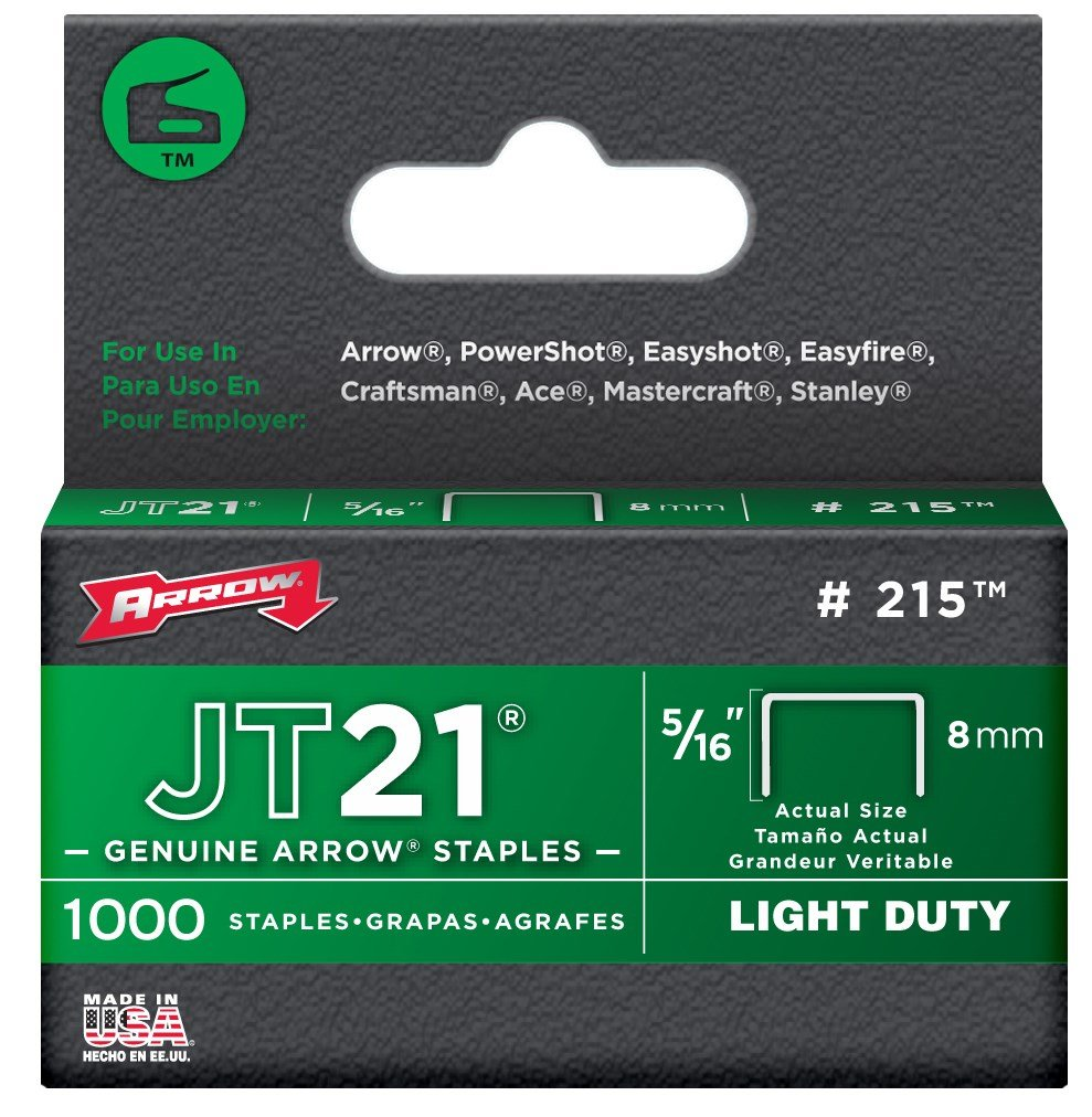 Arrow Fastener 215 5/16'' JT21 Staples