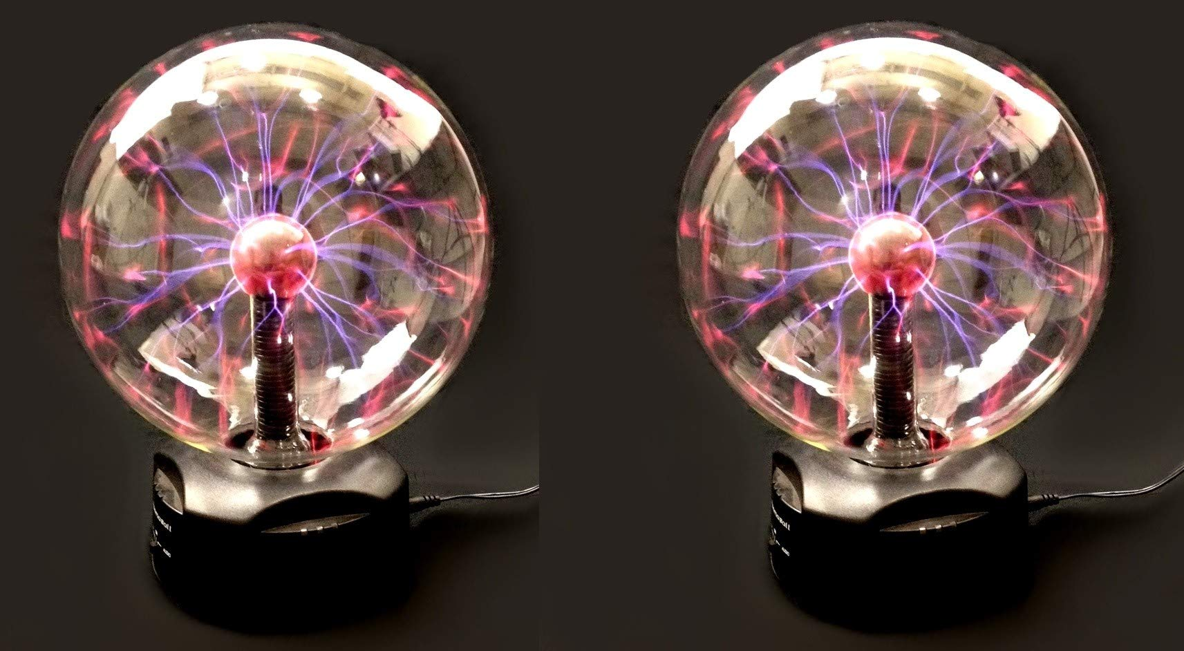 EDM - Set of 2, 8'' Plasma Nebula Ball, Party Light, Touch & Sound Activated