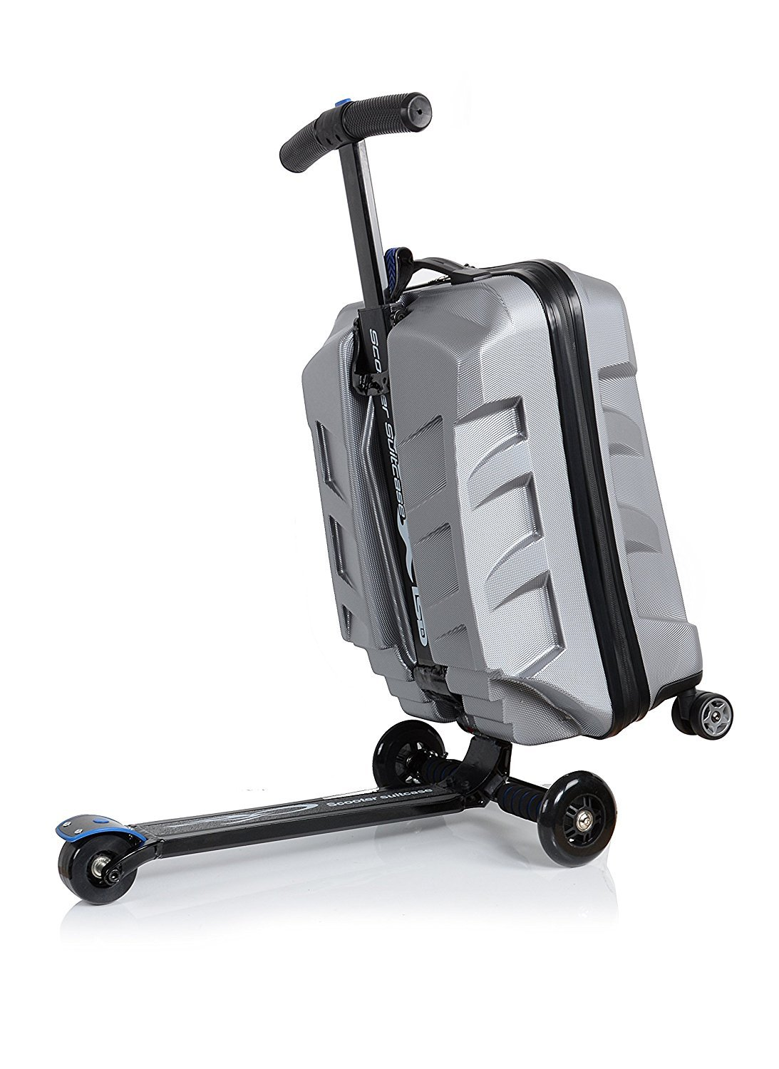 Sunshine baby 20 inch foldable scooter suitcase with multi-functional suitcase (gray)