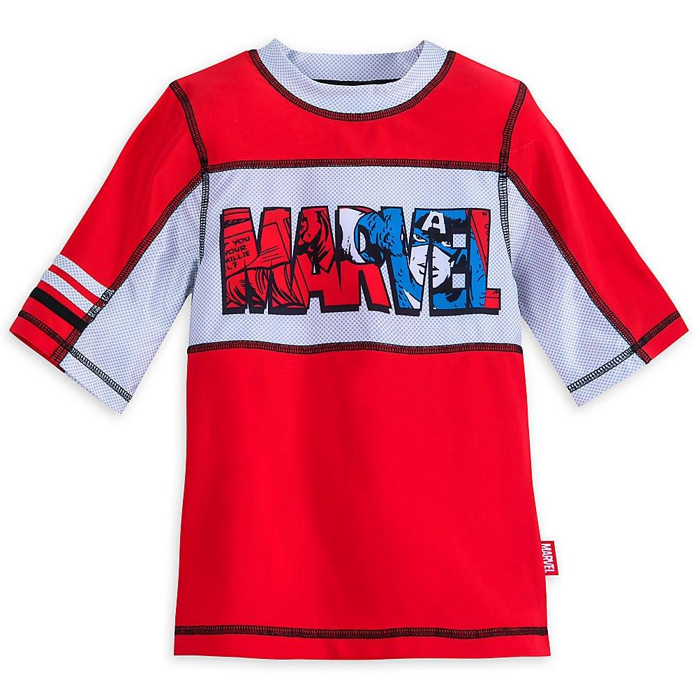 Marvel Avengers Rash Guard for Boys Red