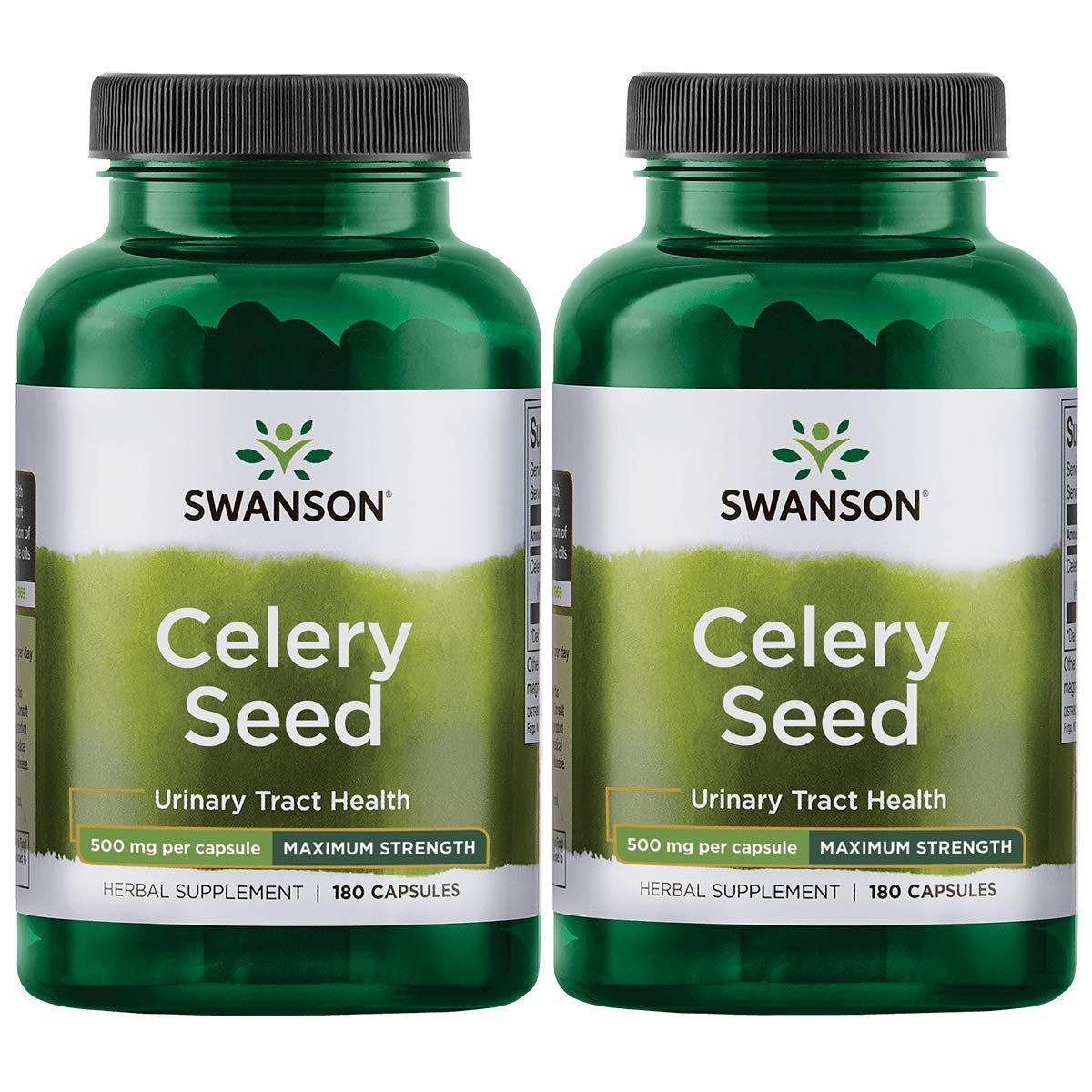 Swanson Celery Seed Extract (Cellery) Urinary Health Antioxidant Support Phytochemicals Volatile Oils Supplement Maximum Strength 500 mg 180 Capsules (2 Pack)