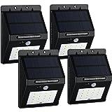 VicTsing 16 LEDs Luz Solar con Sensor de Movimiento Focos para Pared Exterior, Iluminación y Seguridad de exterior, 4 Packs