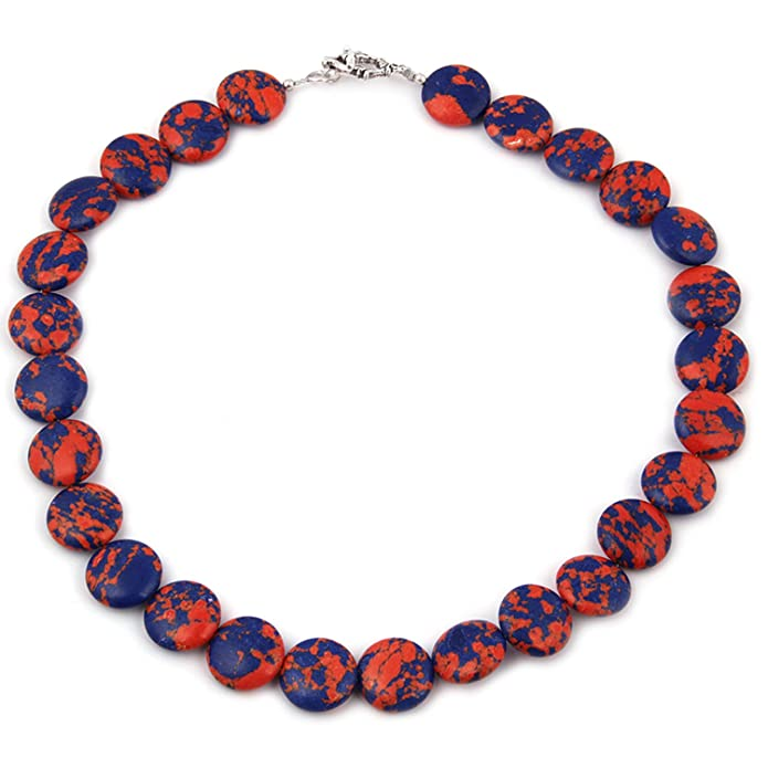 Pearlz Ocean Gaiety Moods Mosaic Beads 18 Inches Necklace Women at amazon