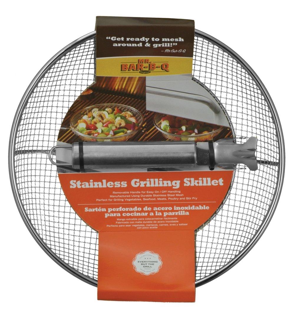 Mr. Bar-BQ 06814X Stainless Steel Mesh Grilling Skillet