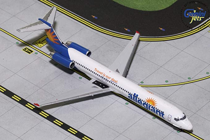 GeminiJets Allegiant MD-80 / MD-82 1:400 Scale Diecast Model Airplane