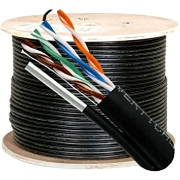 1000ft OUTDOOR Cat5 Cable UTP Ethernet Solid 24AWG PE Network Direct Burial Wire