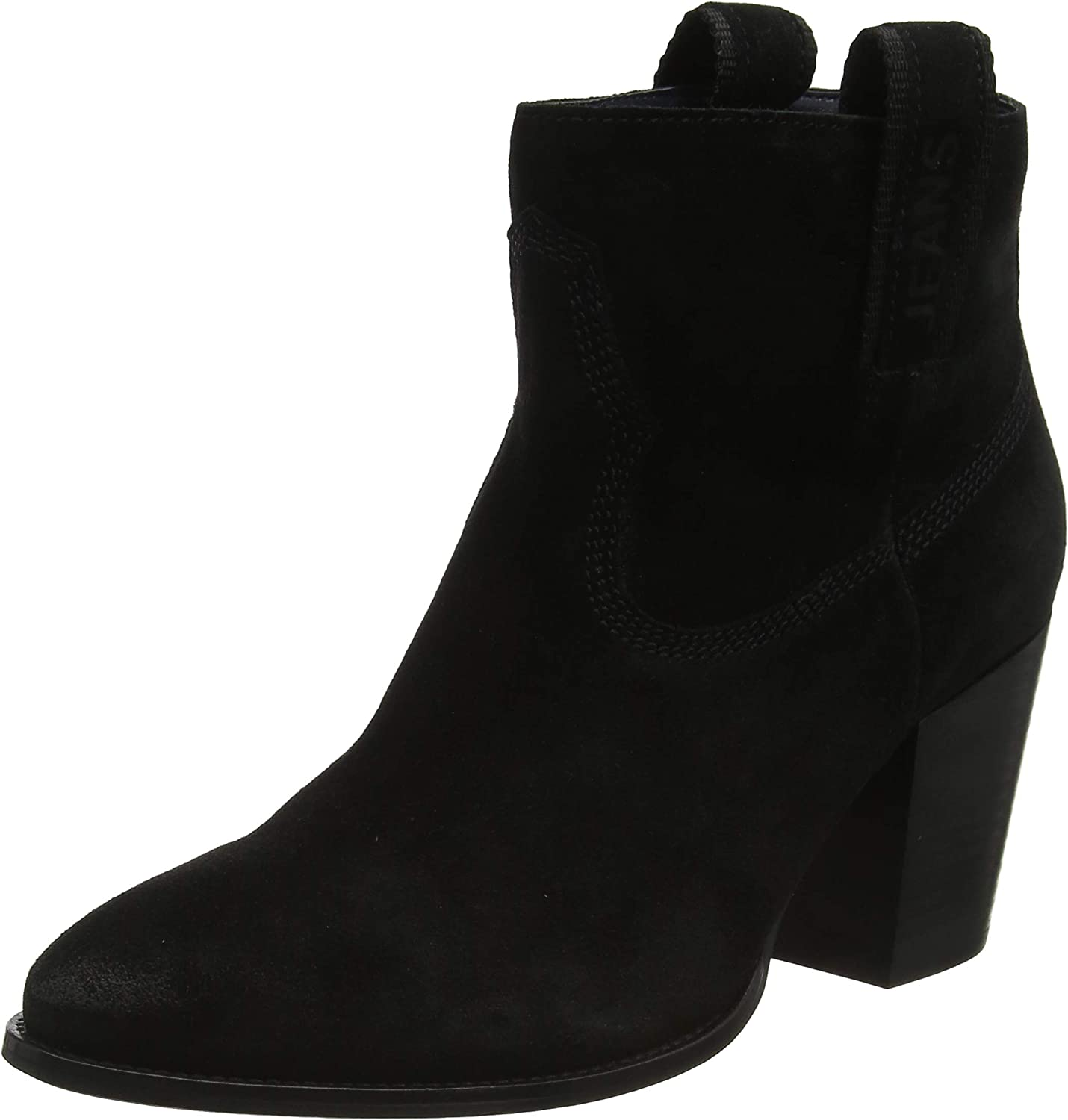 Tommy Hilfiger Cowboy Suede Mid Heel Boot, Botines para Mujer