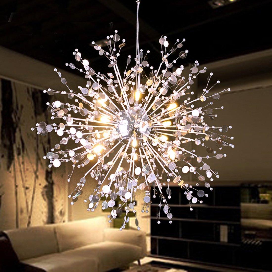 huge selection of 7fdda ddb94 Details about Sputnik Chandelier Light Fixture Entryway Modern Led Ceiling  Pendant Cafe Lamp