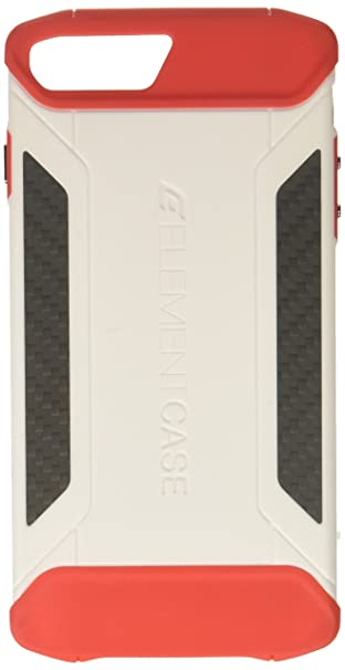 buy online 6ae98 e6b93 Element Case CFX Mil-Spec Drop Tested Case for Apple iPhone 8 Plus and 7  Plus - White/Red (EMT-322-131EZ-12)
