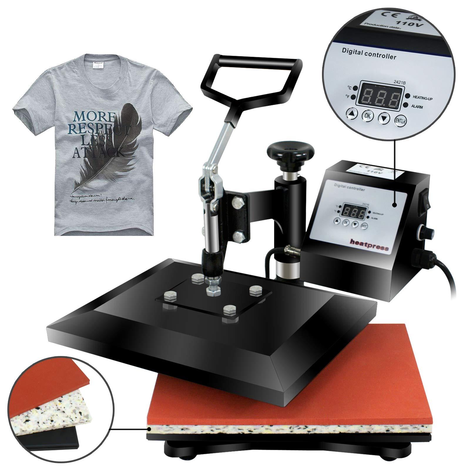 "Super Deal PRO 12"" X 10"" Digital Swing Away Heat Press Clamshell Transfer Sublimation Machine"