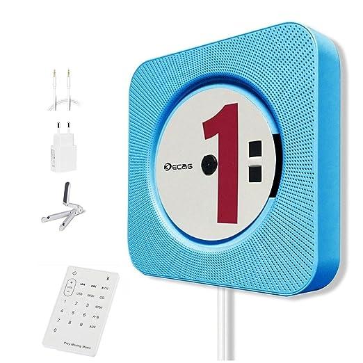 4 opinioni per KECAG lettore CD Montabile a parete Speaker Bluetooth portatile Home Audio con