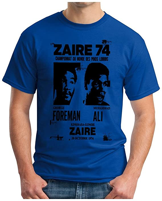 OM3 ZAIRE74-FOREMAN-vs-ALI - T-Shirt - Rumble in The Jungle Afrika Africa  Heavyweight Boxing Fight Champion, S - 5XL: Amazon.de: Bekleidung