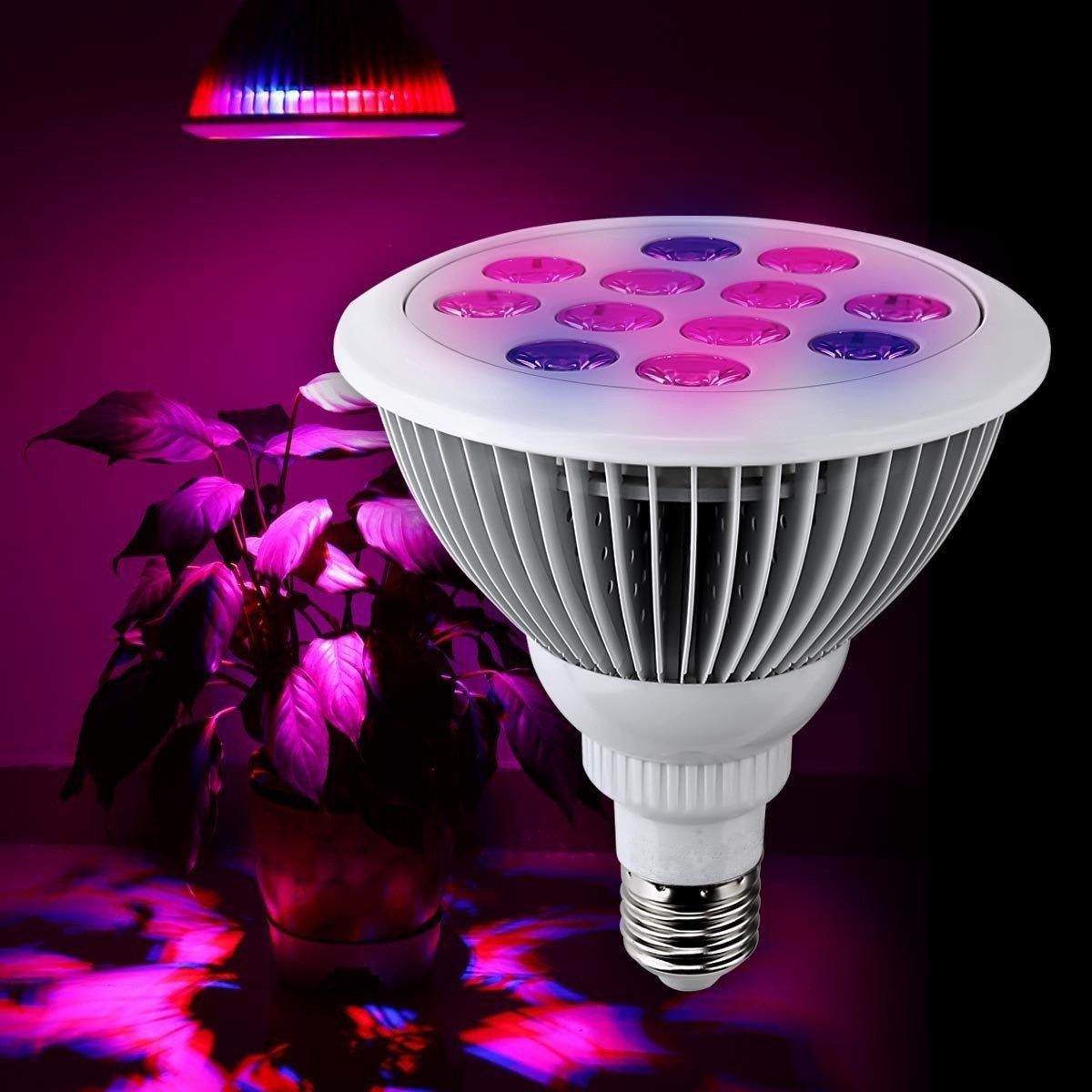 ELEOPTIONE27 LED Grow Lights Grow Light Grow Lights for Aquatic Plants Seeds Indoor Plants Flower Vegetables etc. (24W)
