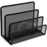 Black Mesh Letter Sorter Business Document Tray Desk Office File Holder