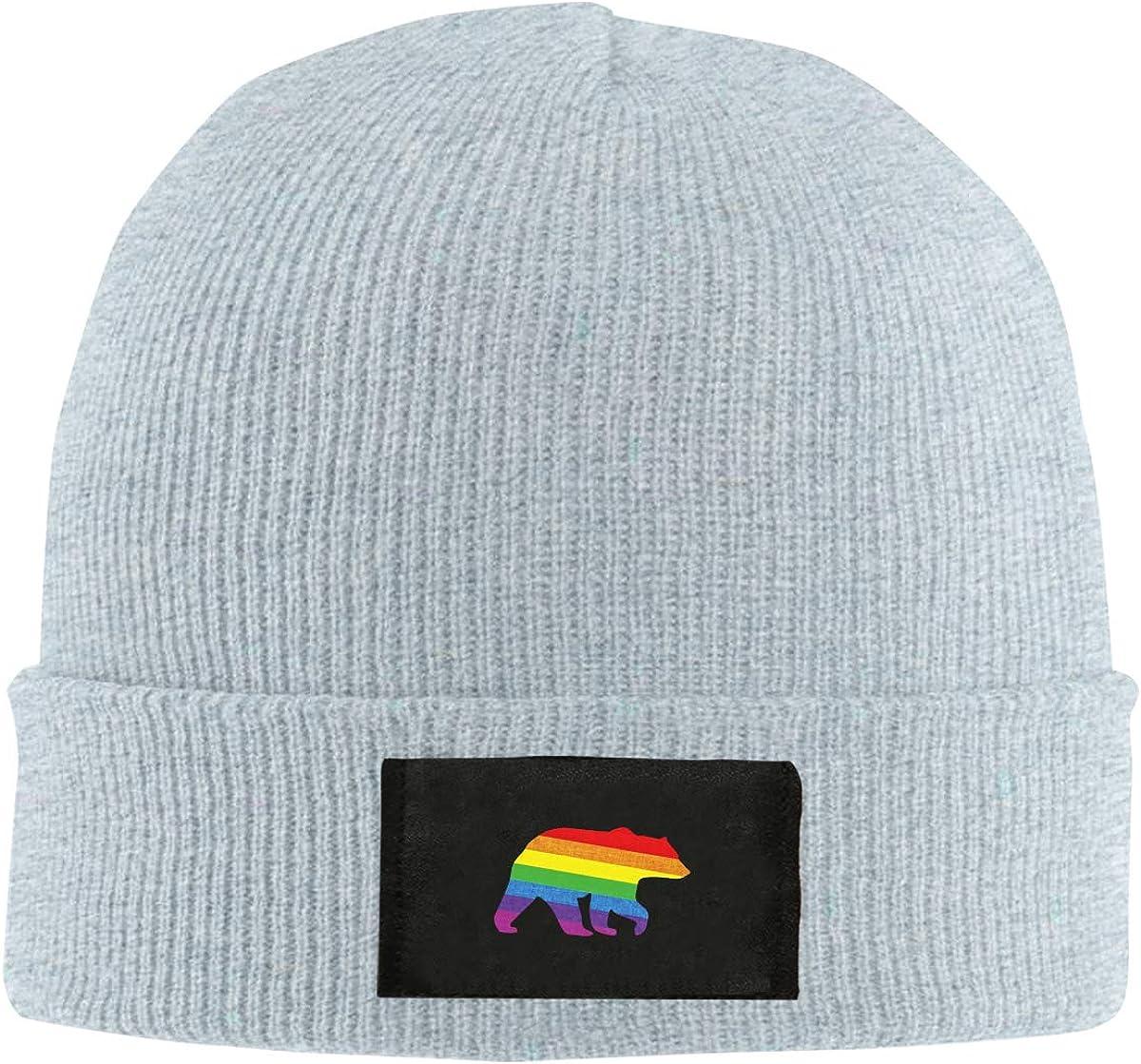 Gay Bear Top Level Beanie Men Women Unisex Stylish Slouch Beanie Hats Black