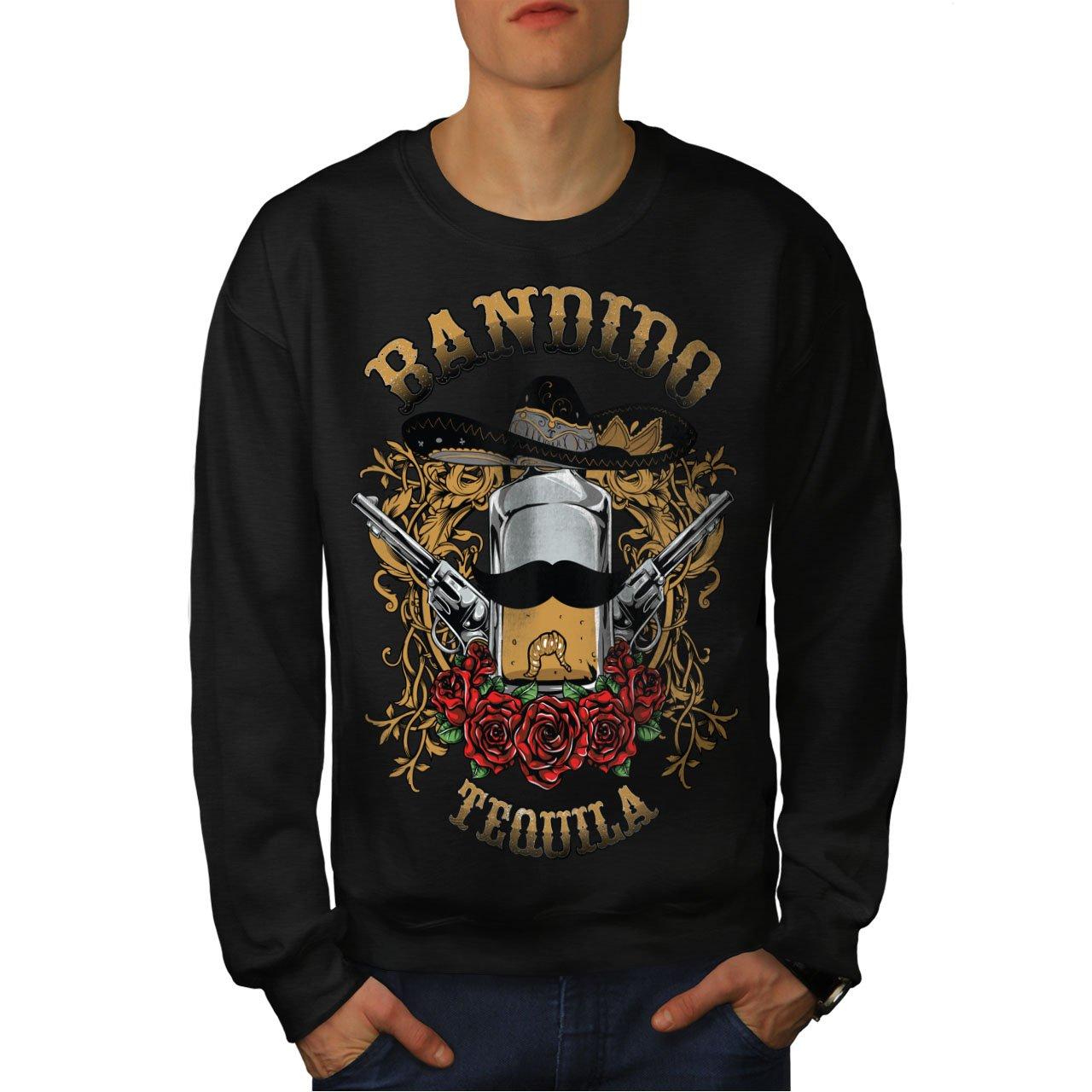 Mexico Casual Jumper wellcoda Bandido Tequila Rose Mens Sweatshirt