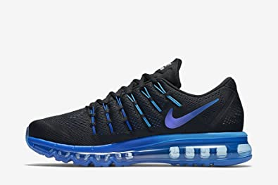 Nike Air Max 2016 Herren Running Sneakers, SchwarzBlau, Größe 44