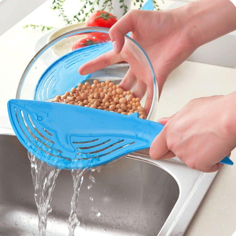 RysmruanyinyinShop Cuisine cr/éative Outils de Cuisine Le Type de poign/ée en Forme de Baleine Filtre /à Eau Passoire /à Pot en Plastique