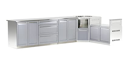 outdoor kitchen cabinets stainless steel outside kitchen life outdoor g40040 kitchen cabinet 170quot 35quot 235quot amazoncom 170