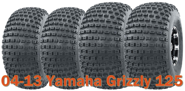 Set of 4 UTV ATV tires 20x7-8 & 22x11-8 4PR for 04-13 Yamaha Grizzly 125