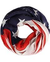 Distressed leichter Sommer Schlauchschal Loop Schal USA Amerika Flagge