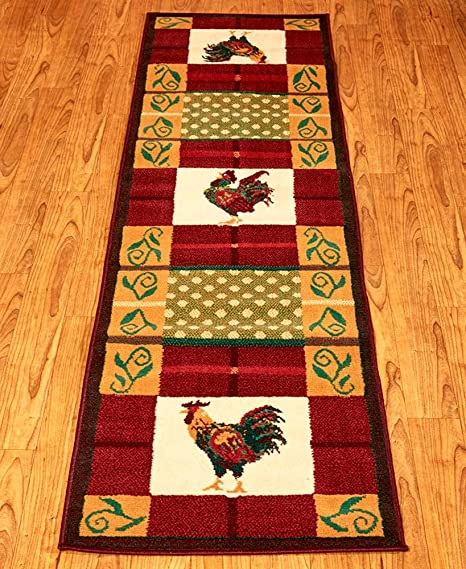 Amazon.com: Modern Country Rooster Rug Collection-Protect ...