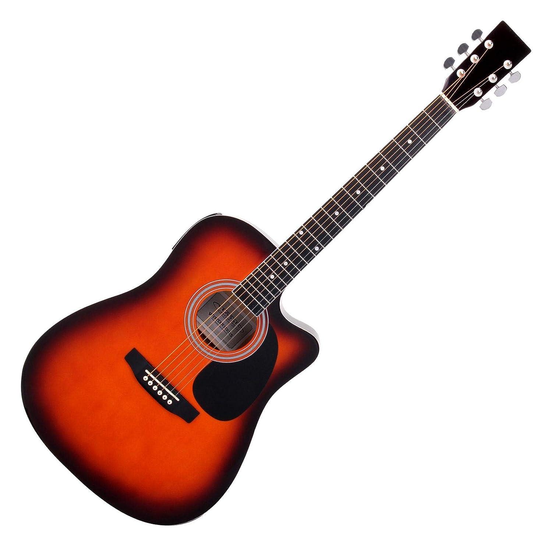Classic Cantabile WS-10SB guitarra acustica estilo oeste Sunburst con fonocaptador