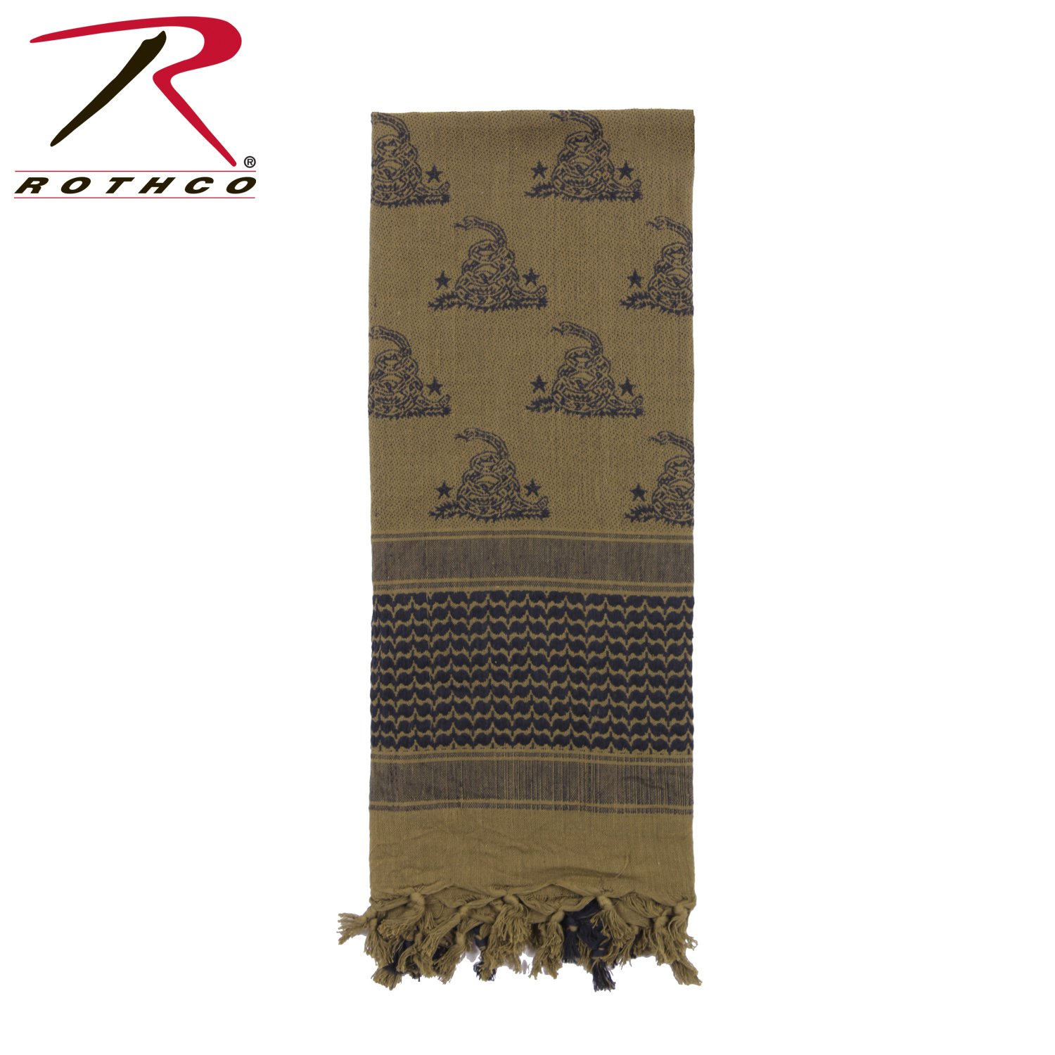 Rothco Snake Shemagh Tactical Desert Scarf, Olive Drab