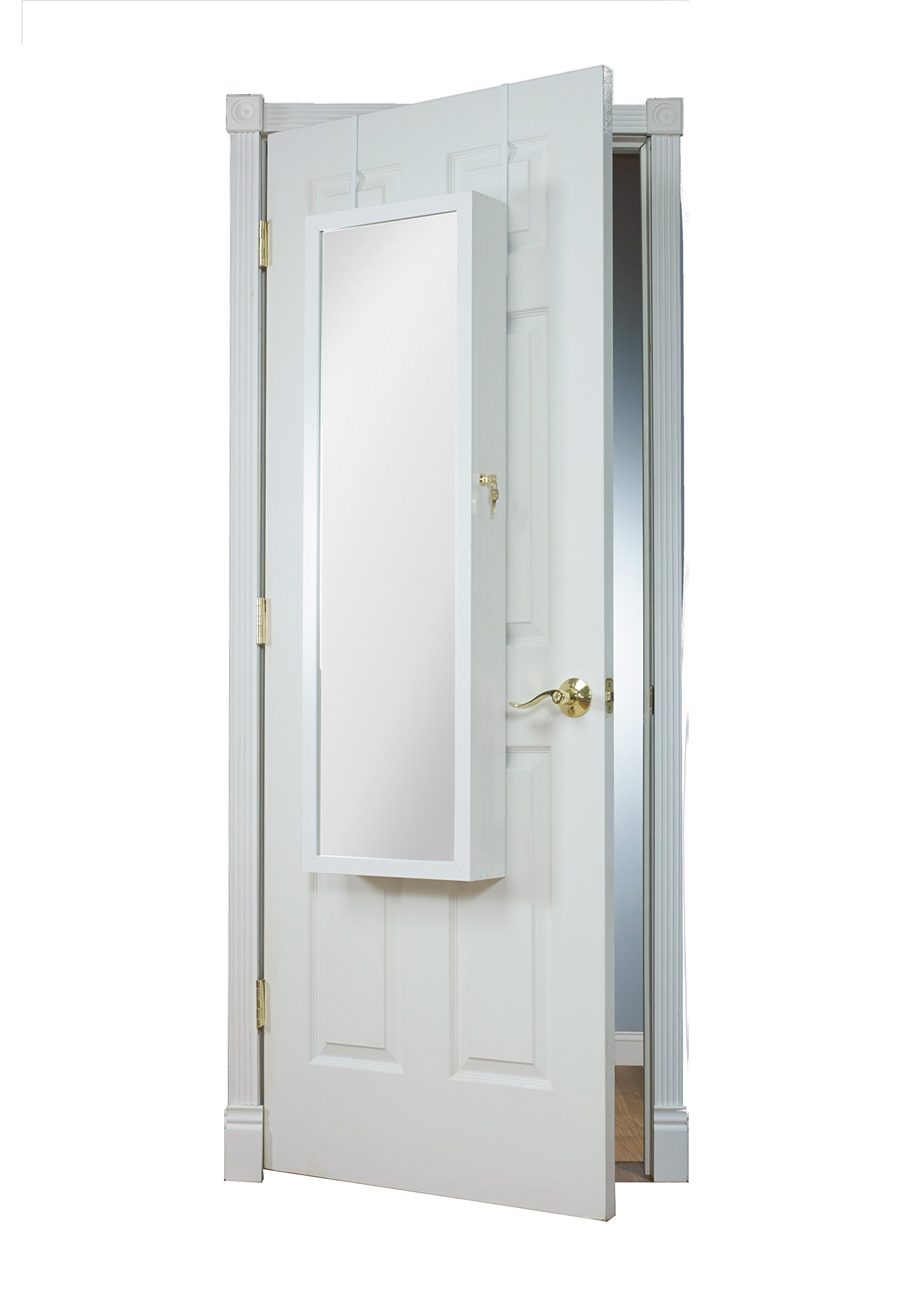 Mirrotek Over The Door Combination Jewelry and Makeup Armoire, White by Mirrotek (Image #2)