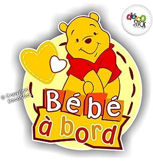 sticker bb bord winnie lourson autocollant - Winnie L Ourson Bebe