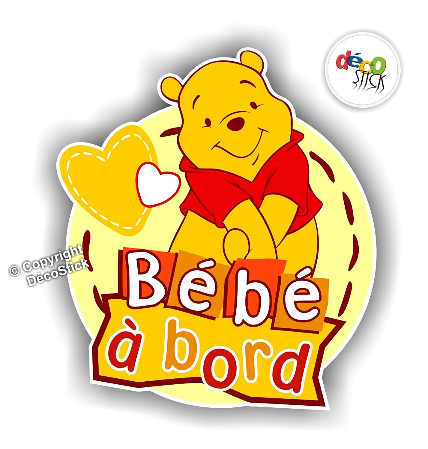 Sticker Bébé à Bord Winnie l'Ourson - Autocollant 30%OFF