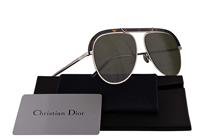 910dd31726 Christian Dior DiorDesertic Sunglasses Havana Palladium w Green Lens 58mm  9G0O7 Dior Desertic  Amazon.co.uk  Clothing