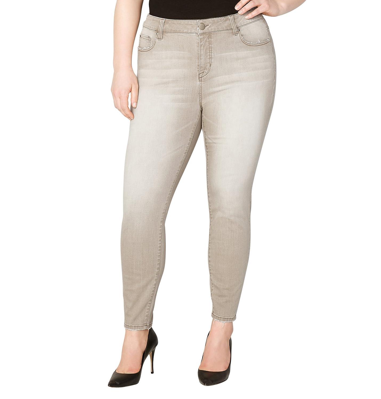 Avenue Women's Washed Skinny Jean in Khaki