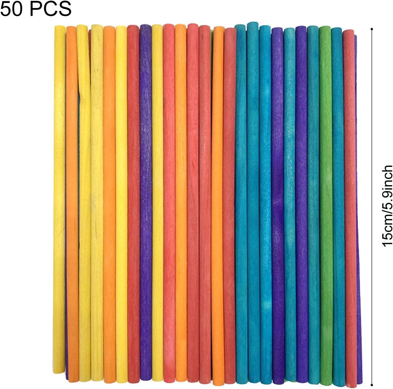 DOITEM 214 PCS Palos de paletas de palitos de madera de artesan/ía de madera natural Hojas de madera de balsa Paleta de paleta de arte de paleta lisa Perfecto para art/ículos de artesan/ía