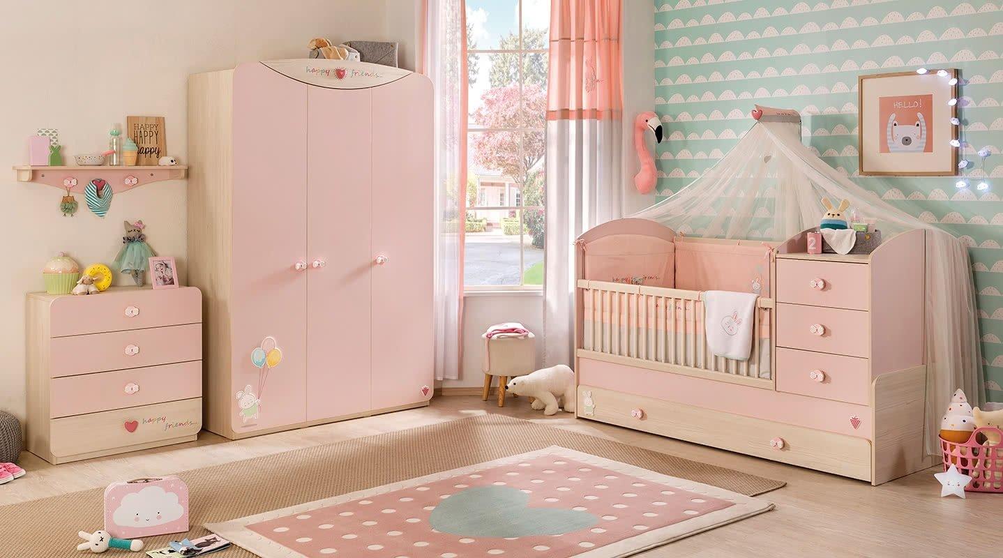 un ciel de lit une armoire com/ un tapis, /Comprend: un lit un matelas un set de couvertures et coussins dafnedesign une commode une /étag/ère /Chambre Compl/ète pour enfant ou b/éb/é/