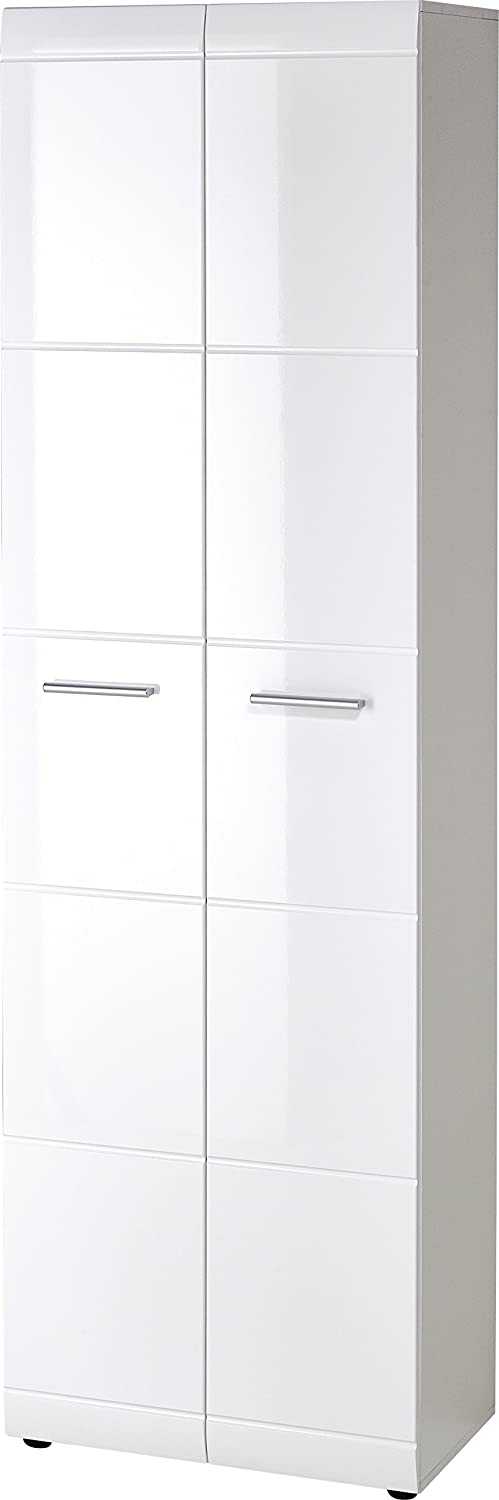 Germania Wardrobe 3577-84 GW-Adana, in White, with high gloss fronts, 59 x 197 x 37 cm (WxHxD) Germania XTW3U 3577_84