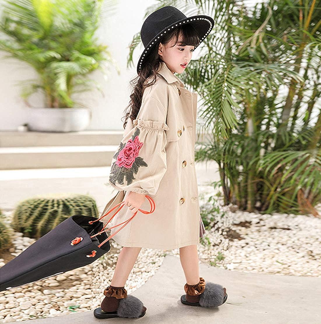 Fairy Baby Kids Girls Lantern Sleeve Jacket Outwear Cute Flower Outfit Windbreaker