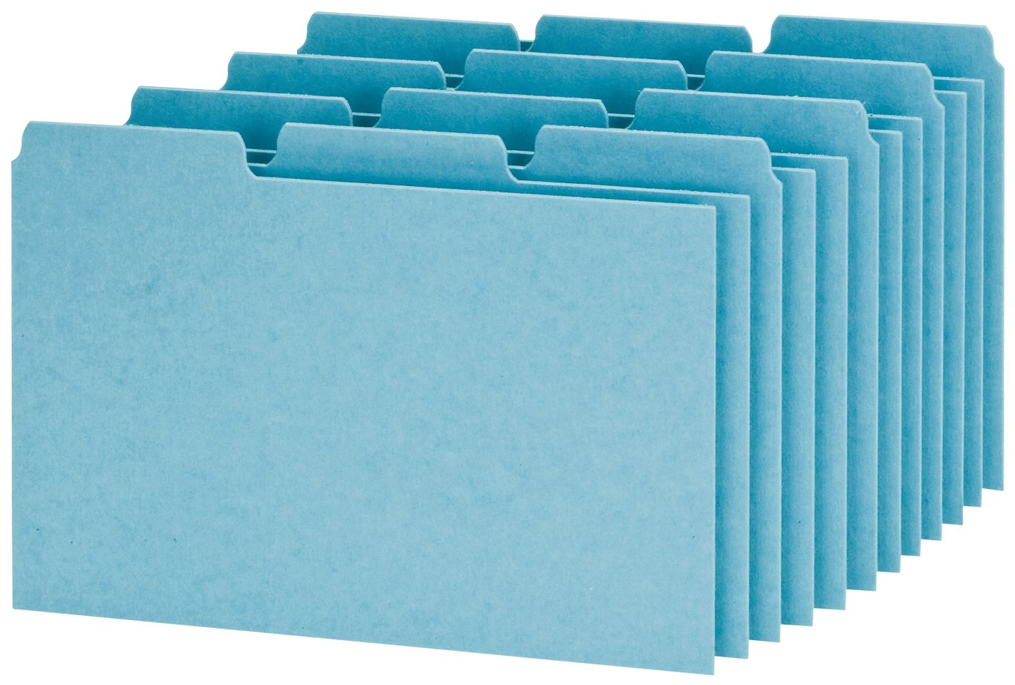 Oxford Index Card Guides with Blank Tabs, 4 x 6 Inches, 1/3 Cut Tabs, Blue, 100 per Box (P413) by Esselte