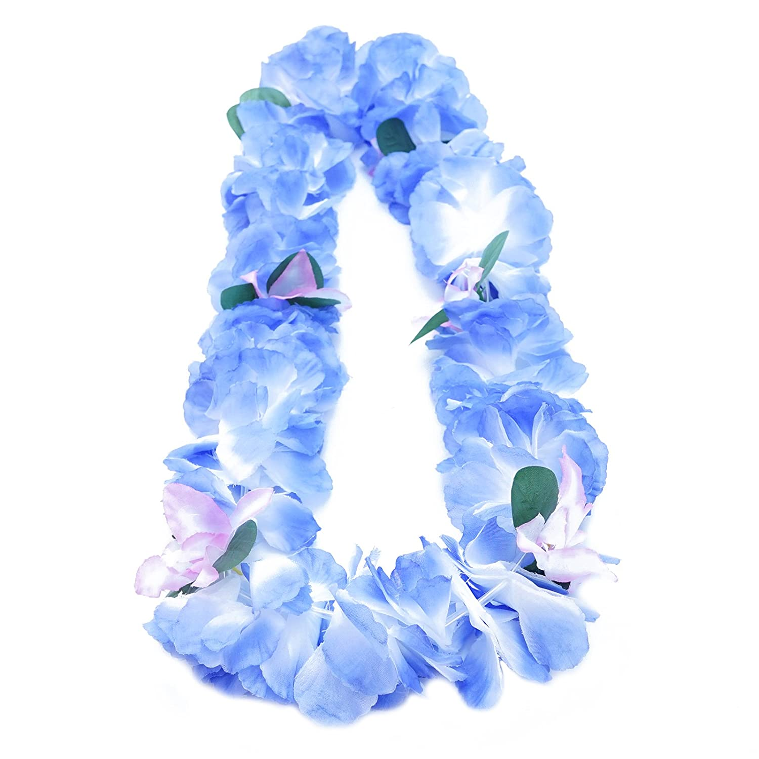 Amazon premium hawaiian luau party lei paradise petunia w amazon premium hawaiian luau party lei paradise petunia w orchids caribbean blue garden outdoor izmirmasajfo