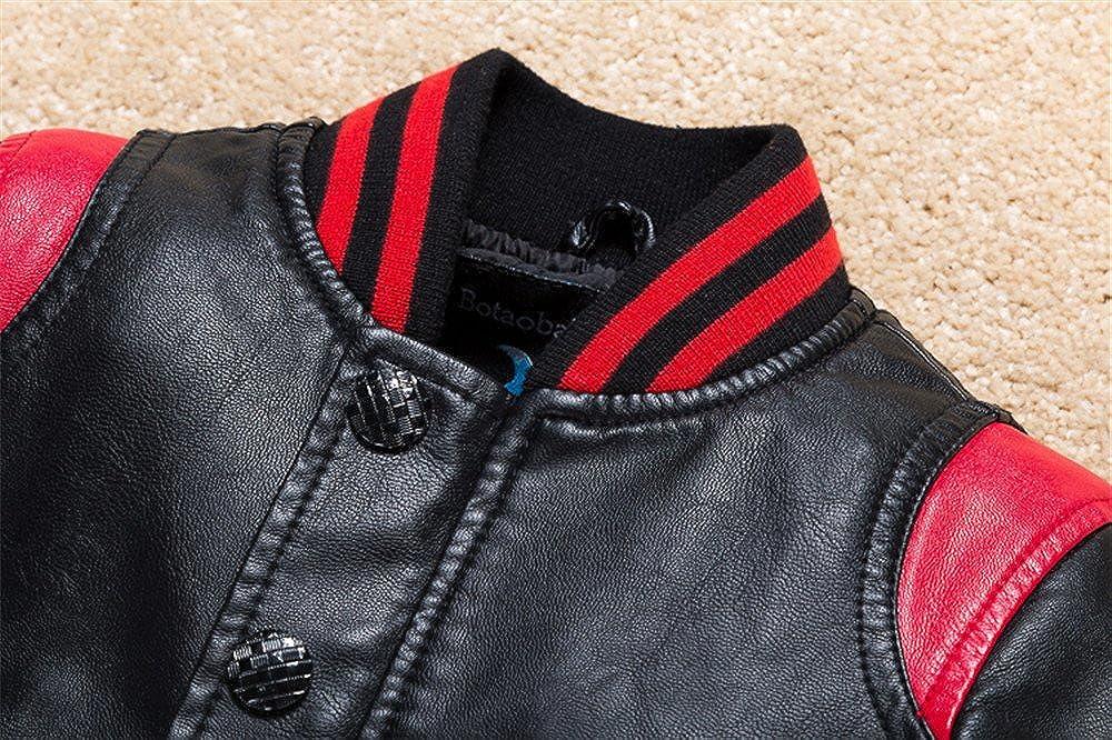 Budermmy Boys Leather Motorcycle Pilot Jackets Toddler Coats